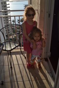 Balkonen første dag i Miami klar til at gå ud