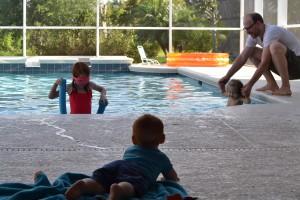 Hjemme i poolen igen...