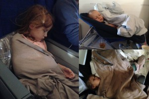 3 sovende unger